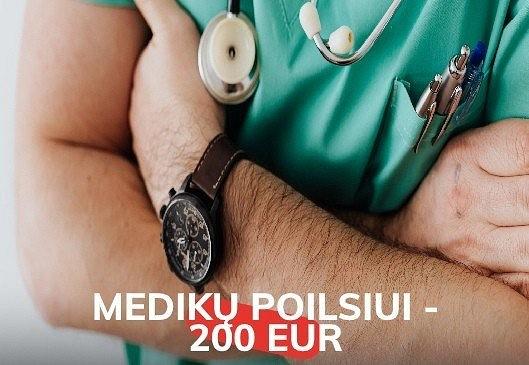 200 eurų valstybės subsidija medikams